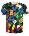 Estilo verão peças de Lego t-shirt super popular brinquedo das crianças 3d de impressão camiseta camisetas para Unisex mulheres homens Plus Size S-XXL
