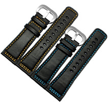 Watchband 28mm New Black Premiun smooth Italy Genuine Leather Watch Bands Strap For SevenFriday