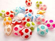 600 шт футбольные кнопки с хвостовиком застежки смешанные цвета