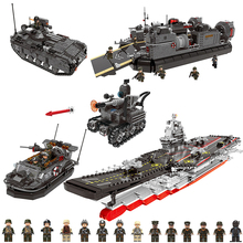 XINGBAO 06016-06020 Cross The Battle Series Building Blocks MOC Bricks Compatible With LegoINGs Military WW2 Educational Toys