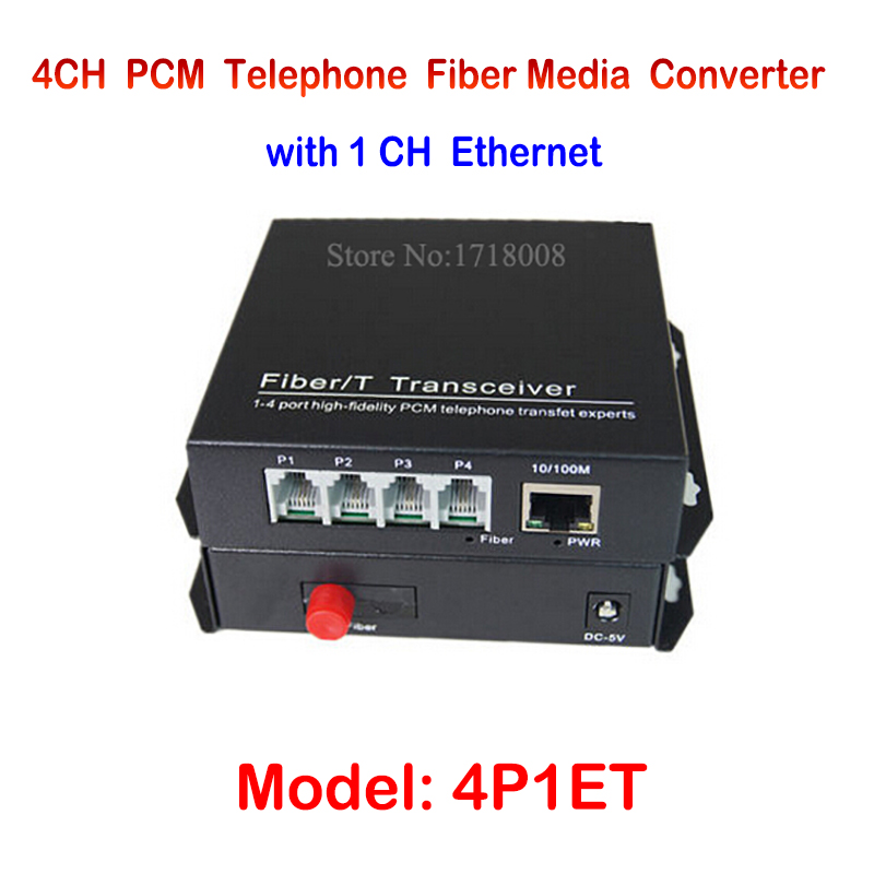 4 Channel PCM Voice Telephone fiber optical media converter with 1ch Ethernet 1Pair -FC Single Mode 20KM Multi-mode 300Meters new single fiber single mode optical transceiver 10 100m 1000mbps sc port 20km 2ch fiber 8ch rj45 fiber optical media converter