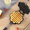 Вафельная форма в форме сердца антипригарная форма для торта Маффин DIY Форма для выпечки поднос газовая плита для огня специальная