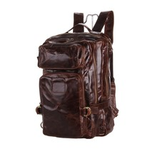 Genuine Leather Men Backpack