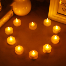 24 ピース/ロットちらつき茶ライト電池 led キャンドルブジーバルク velas 電気キャンドルシャンデル結婚式クリスマス