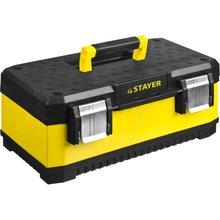 Ящик для инструмента STAYER METALPRO (Размеры 498x289x222 мм,усиленный металлический корпус, надежные металлические замки, съемная полка)