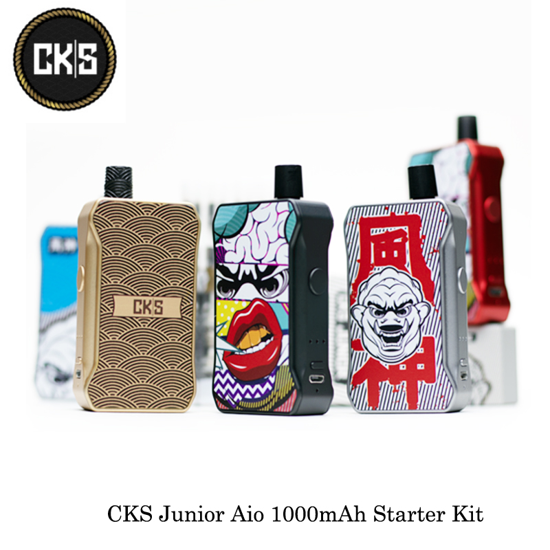Electronic Cigarettes CKS Junior Aio 1000mAh Starter Kit 3mL For 0.6ohm Mesh/1.0ohm MTL/Ceramic 1.5ohm Coil VS Lost Vape Orion