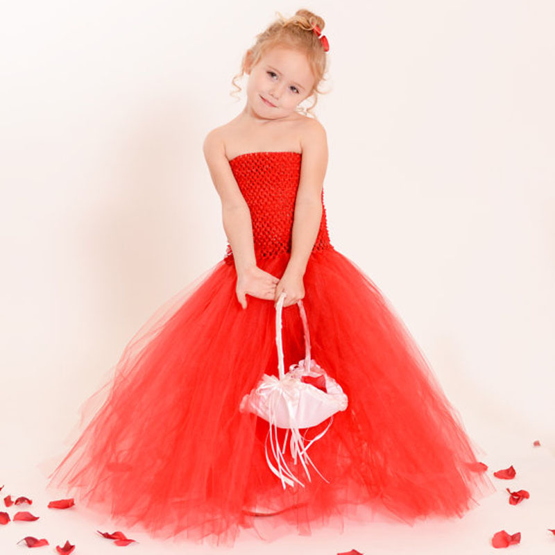 2451c3e2f Latest Solid Color Flower Girls Tutu Dress Kids Tulle Dress for Birthday/ Wedding/Party Children Girl Ball Gown Tutus-in Dresses from Mother & Kids
