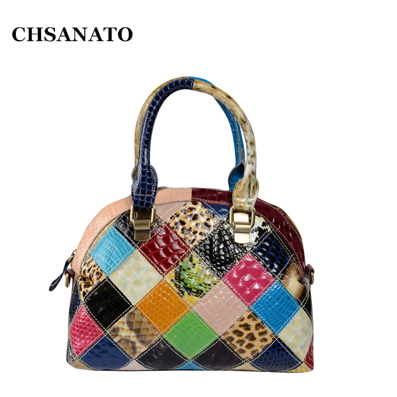 CHSANATO Elegant Patent Leather Shell Bags For Women Fashion Girls Messenger Bag Crossbody Bags Top Quality