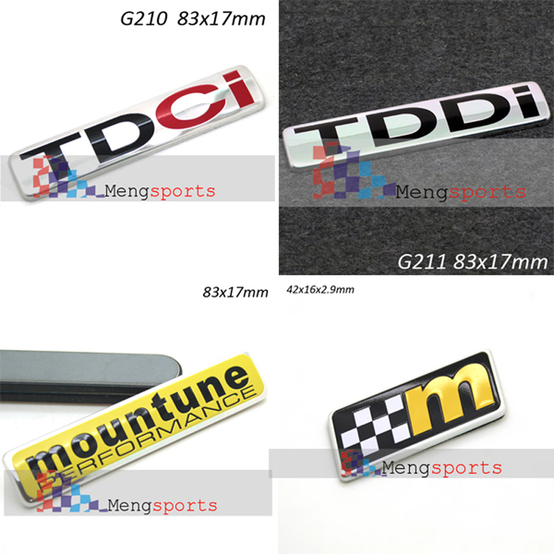 2pcs For Mountune Yellow M Flag Steering wheel Center TDCI TDDI 3D Aluminum Alloy Car Styling CLUB SPORT Badges Emblem