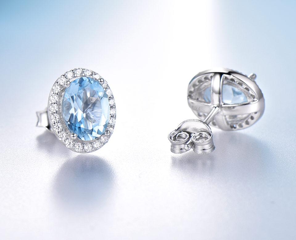 UMCHO Sky blue topaz 925 sterling silver jewelry set for women S010B-1 PC (9)