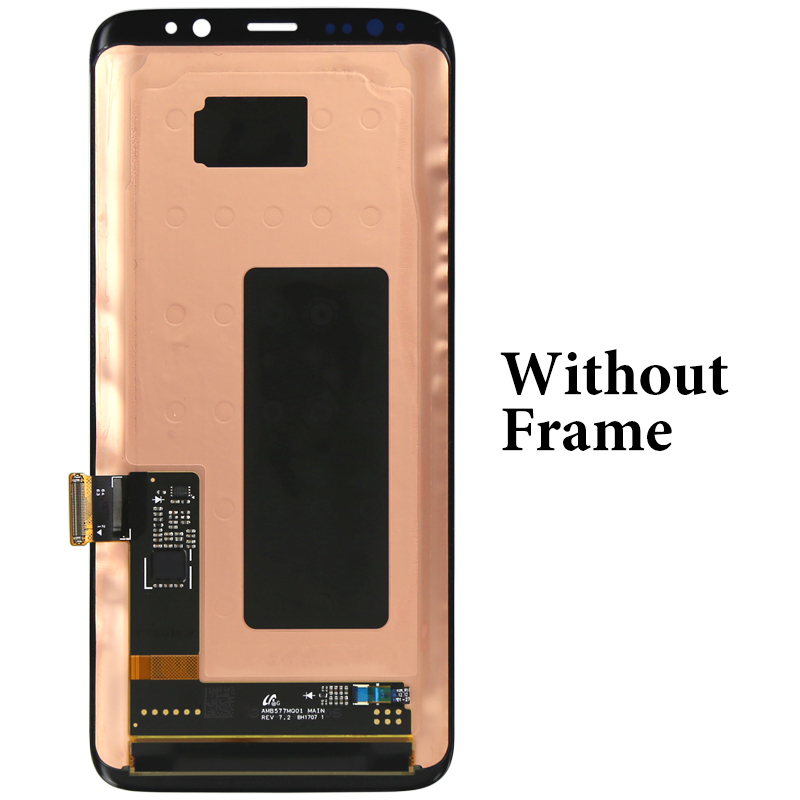 Image 2 - For Samsung S8 LCD Dispaly Super AMOLED With Frame With Touch Screen Assembly For Samsung G950 G950F LCD Screen 100% Tested-in Mobile Phone LCD Screens from Cellphones & Telecommunications