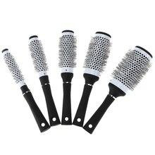 5 Tamaños Durable Iónica de Cerámica Redondo de Peine Peluquería Hair Dressing Salon Styling Herramientas Cepillos Barril Cepillo venta CALIENTE