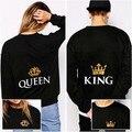 King and Queen Couple's Matching Sweatshirts Boyfriend and Girlfriend Sweatshirt Shirt Hoodies Cotton Casual Euro Size XS-XXXL
