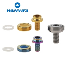 Wanyifa M8x15mm Bicycle Bottom Bracket Crank Titanium Bolt 1pcs M8X15 Bolt +1pcs Cover+1pcs Gasket for Bicycle Crank Chainwheel купить недорого в Москве