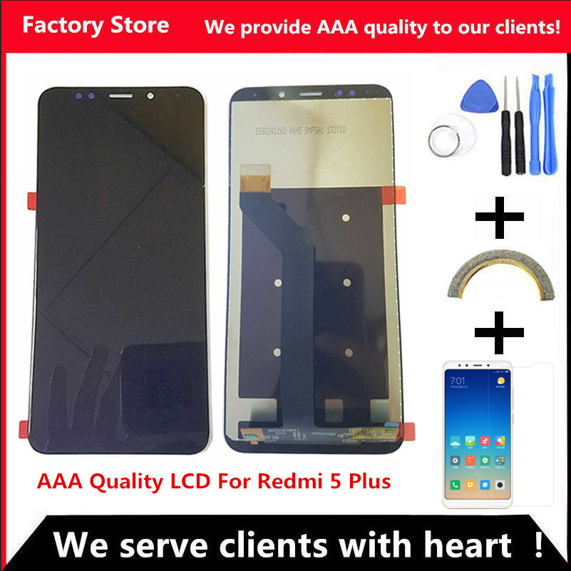 AAA Quality LCD Frame For Xiaomi Redmi 5 Plus LCD Display Screen Replacement For Redmi Note