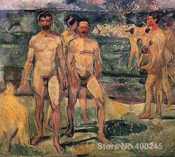 Bathing Men by Edvard Munch paintings For sale Home Decor Hand painted High quality