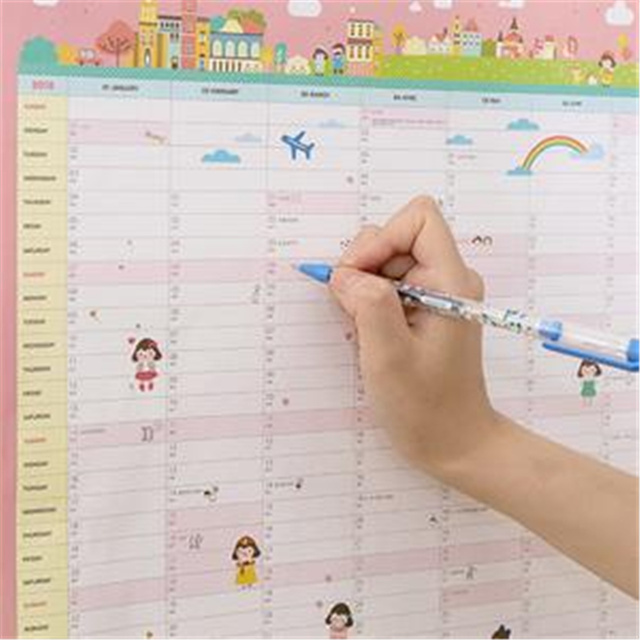 1pc Sell 365days Wall Calendar Planner Agenda 2018 Sketchbook Diary