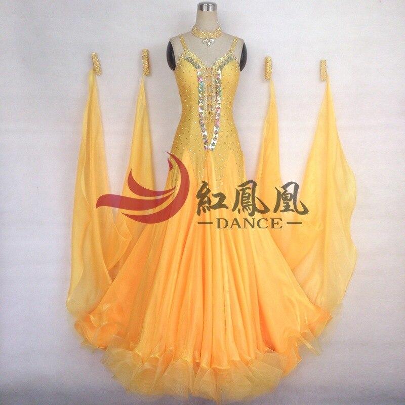 Высококачественное международное стандартное бальное гладкое платье для соревнований по танцам/бальное стандартное танцевальное платье