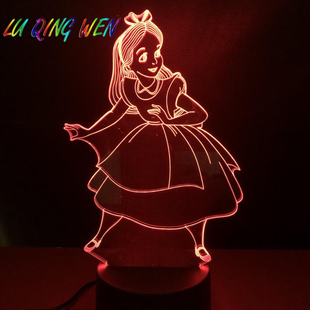 do quarto das crianças 3d noite lâmpada bateria usb nightlight