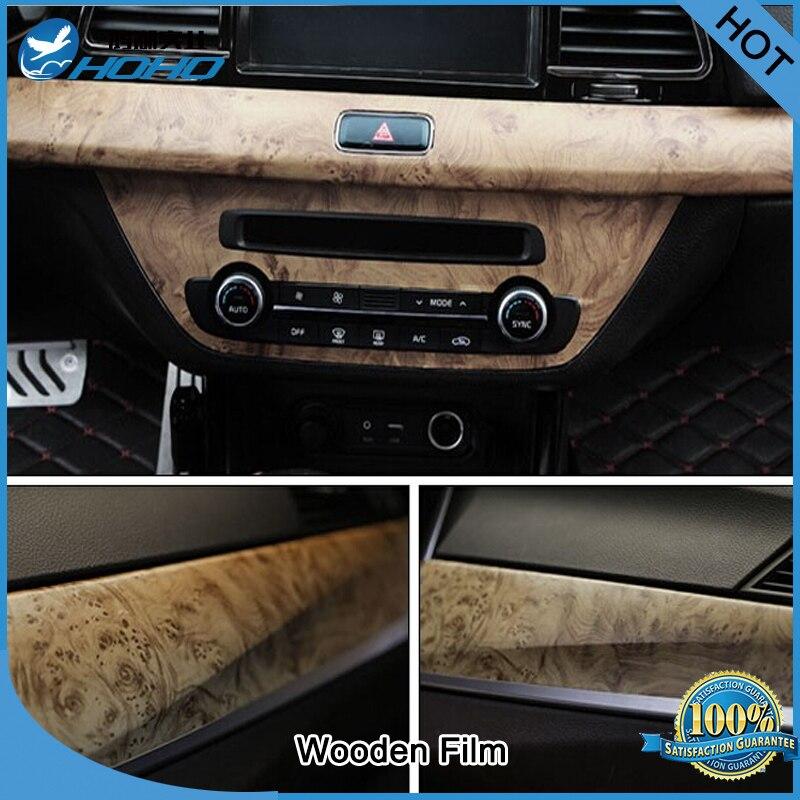 Autocollant de papier de Film de mur de Grain en bois de décalque de PVC auto-adhésif de 1.24x5 m pour le bricolage de meubles de bureau à la maison