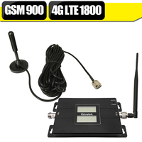 500 Square Meter 2G 4G GSM 900 LTE 1800 Dual Band Mobile Phone Signal Repeater GSM