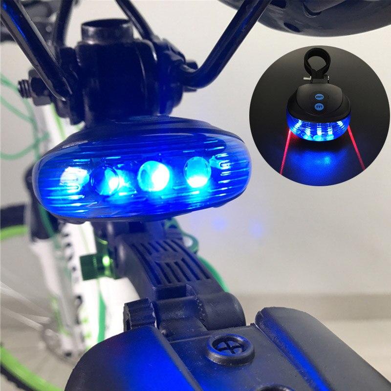 Wheel UP Bike Light LED 2Laser Cycling Bike Light 7 Flash Mode MTB Safety Rear Lamp Waterproof Laser Tail Warning Lamp Flashing