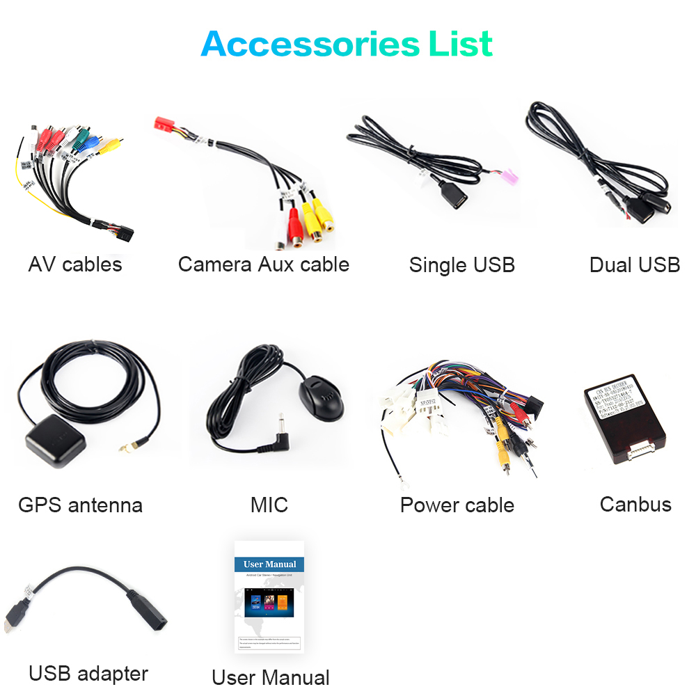 """Clearance Dasaita 10.2"""" Car Radio 1 Din Android 9.0 for Toyota Camry US Version 2015 2016 2017 Bluetooth USB 64GB ROM 5"""