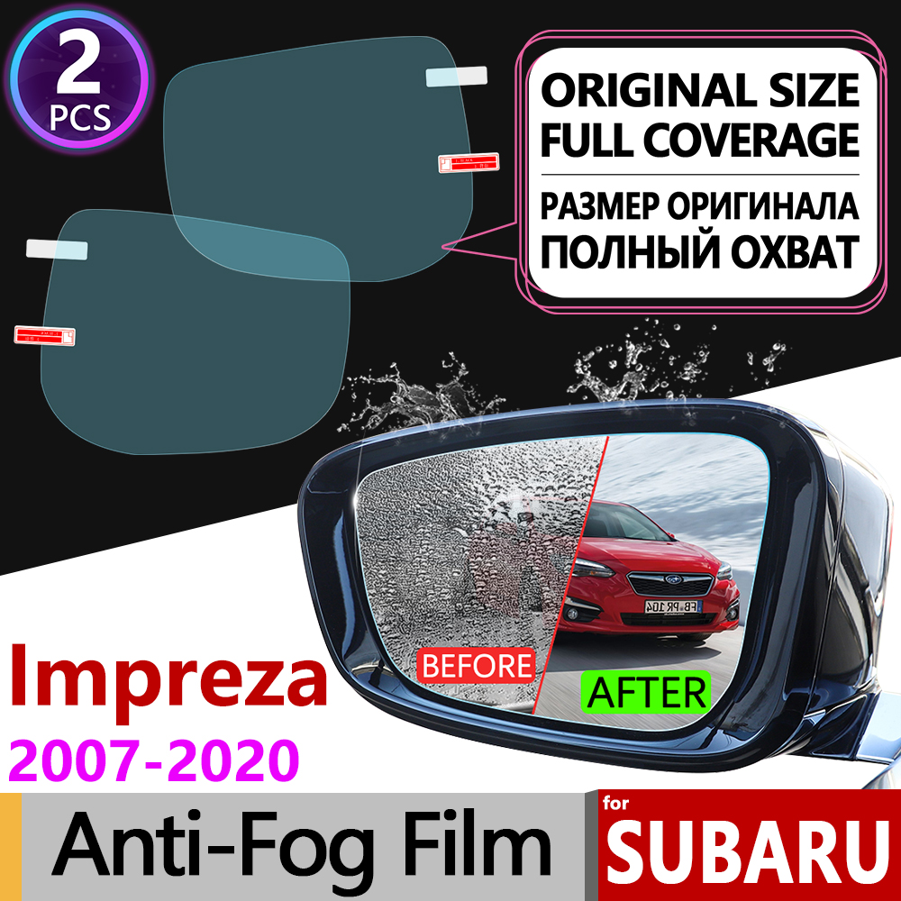for <font><b>Subaru</b></font> Impreza 2007~2020 Full Cover Anti Fog Film Rearview Mirror Car Accessories <font><b>WRX</b></font> <font><b>STI</b></font> <font><b>2008</b></font> 2011 2012 2015 2016 2017 2018 image