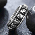 Hot Sale Thai Silver Ring Transfer Jewelry Male Skull Gentleman Personality Skeleton Ring Domineering Fashion Free Shipping