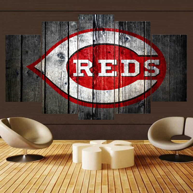Home Decor Cincinnati Reds Ball Team Logo Prints Poster Wall Modular  Picture Canvas Paintings For Living