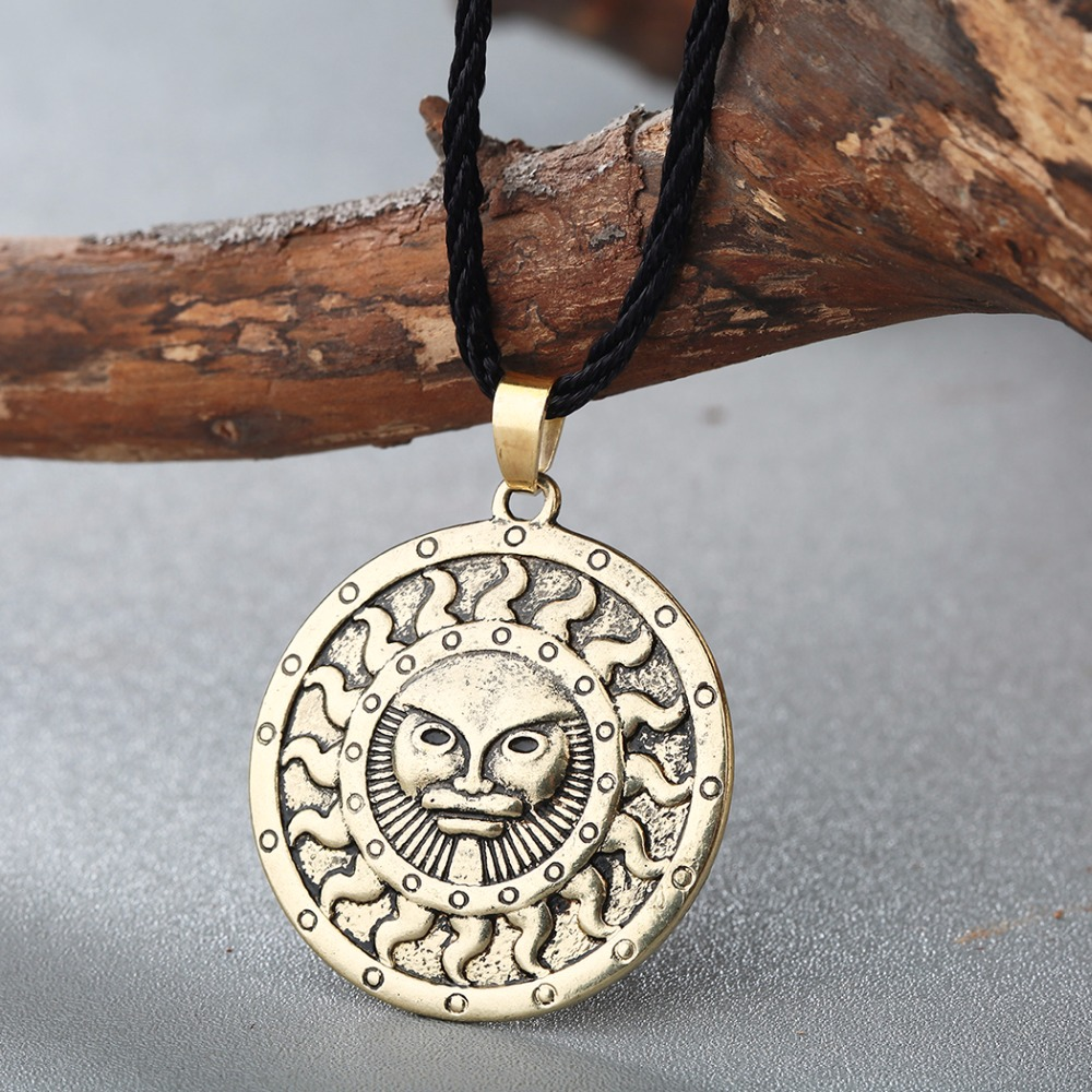 CHENGXUN Antique Silver Gold Celtic Pendant Necklace Viking Jewelry