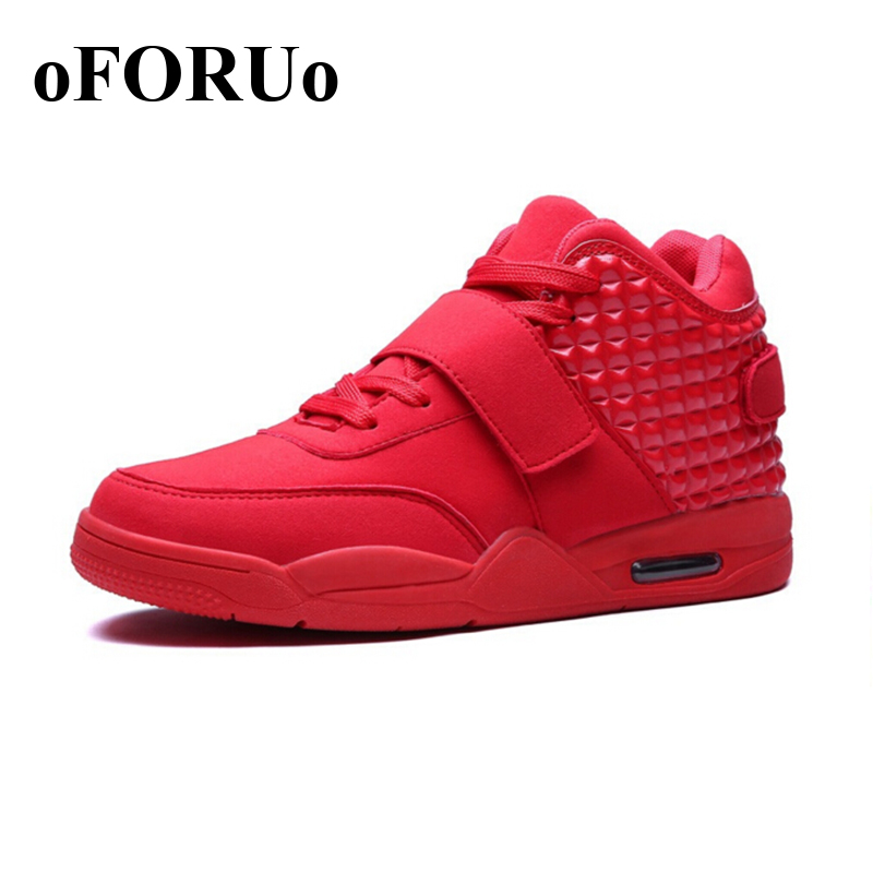 New 2016 Men Running Shoes for men Sneakers Leather High Top Shoe Breathable Men Walking Shoes 103