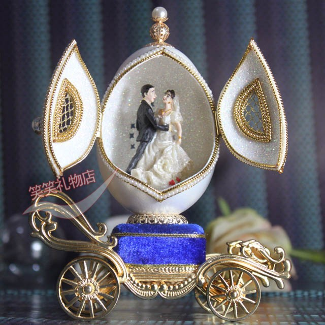 Egg Carving Jewelry Box Music Musical Mechanism Birthday Gift Bride And Groom Wedding Gifts