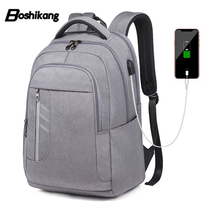 Boshikang Luxury 4 Colors Oxford Business Laptop Backpack Men With Usb Charging Fashion Travel School Backpack Bag For Male