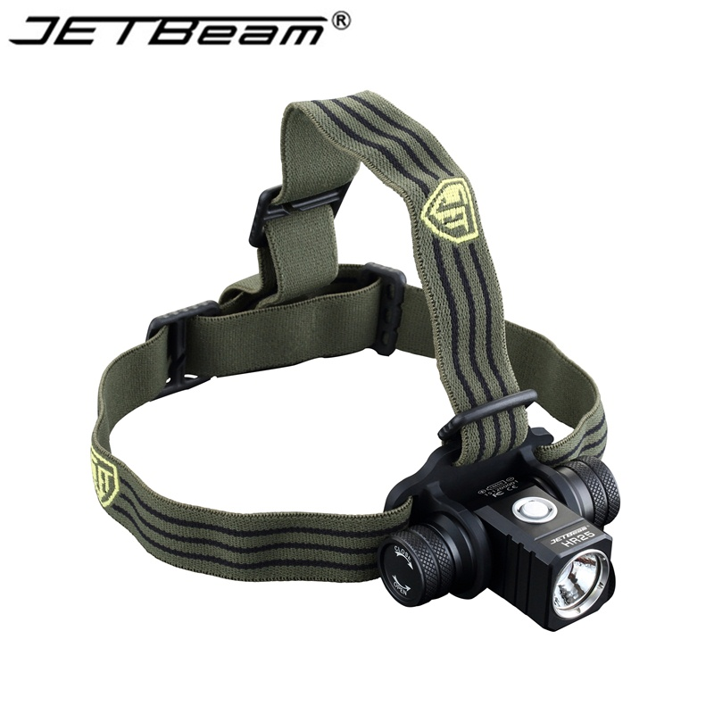 NEW Jetbeam HR25 headlamp Cree XM L2 800 Lumens 18650 headlight 1PCS Jetbeam 2400mAh 18650 battery