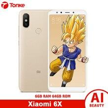 Orijinal Çoklu dil ROM Xiao mi mi 6X6 GB RAM 64 GB ROM Snapdragon 660 Octa çekirdek Tam ekran Çift Kamera 20MP + 12MP Smartpone