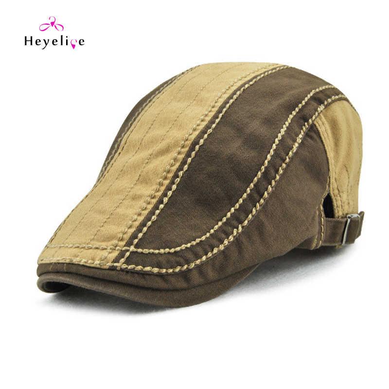 Модные мужские головные уборы череп плоский пряжка Винтаж берет шапки высокое качество мужчины Cap Весна-лето Лидер продаж твердые береты для мужчин для отдыха,