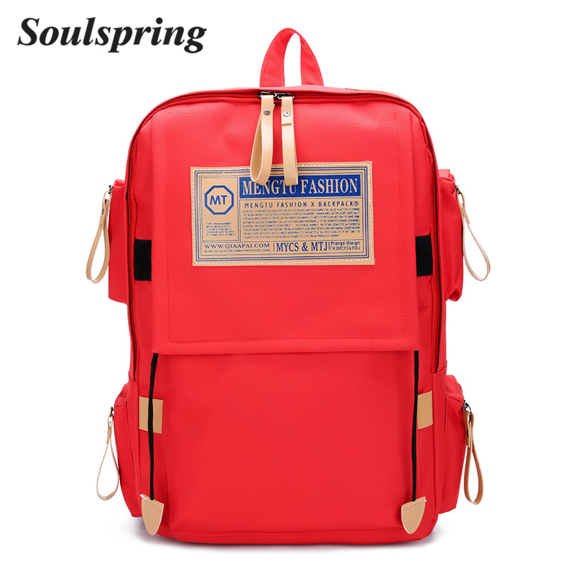 Women Schoolbag Backpacks Woman 2018 Minecraft Oxford Travel Bag Red Backpack  Female School Bags For Teenage Girls For Laptop-in Backpacks from Luggage  ... f696590b3b6be