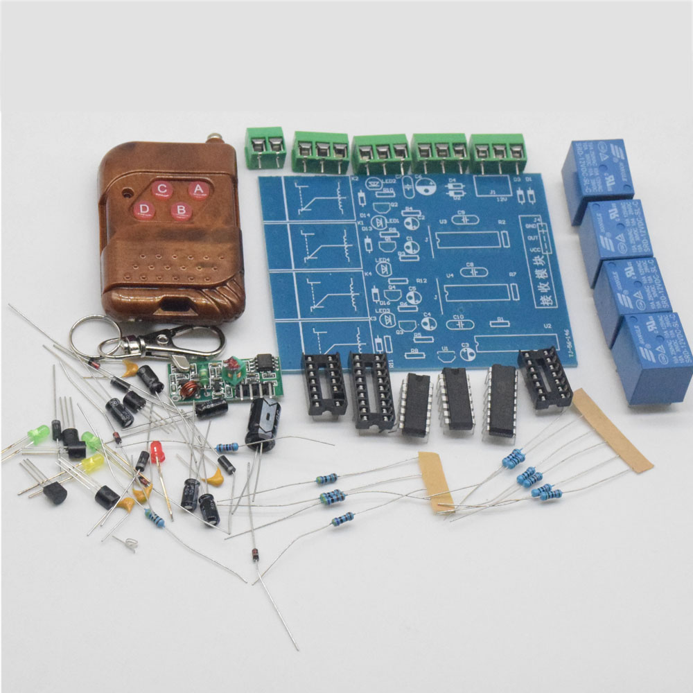 cnikesin diy kit four wireless remote control switch suite 12v diy