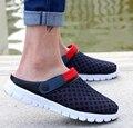 Sandálias dos homens Da Praia do Verão 2017 Homens Sapatos Casuais Malha Respirável Homens Chinelo Sandálias Planas Plus Size 39-46 cd25