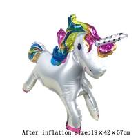 New 50 piece stereo unicorn standing aluminum balloons air ballons children birthday party wedding decor supplies ballon Globos