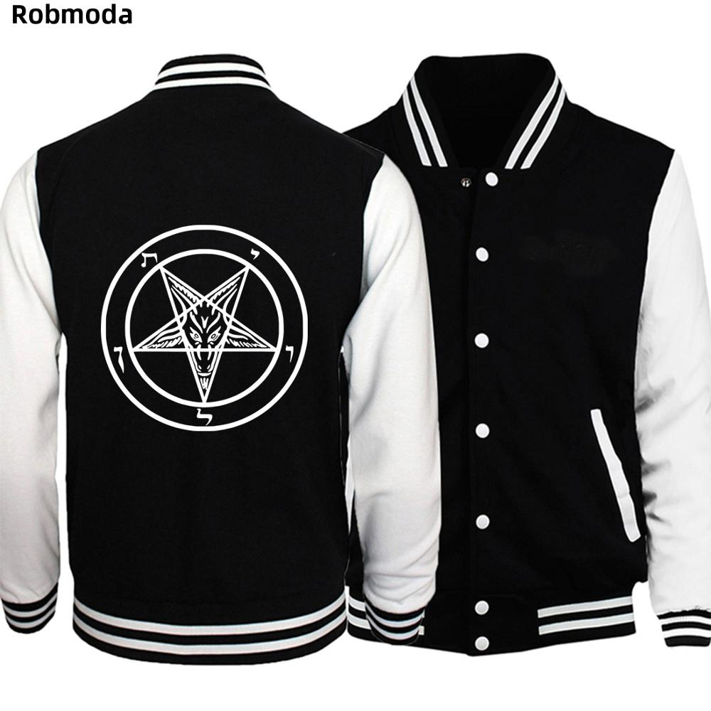 Pentagram Gothic Occult Satan  Men Jacket Baseball Clothing Casual Men's Jackets Coat For Men Hoodies Tracksuits Bomber Jacket