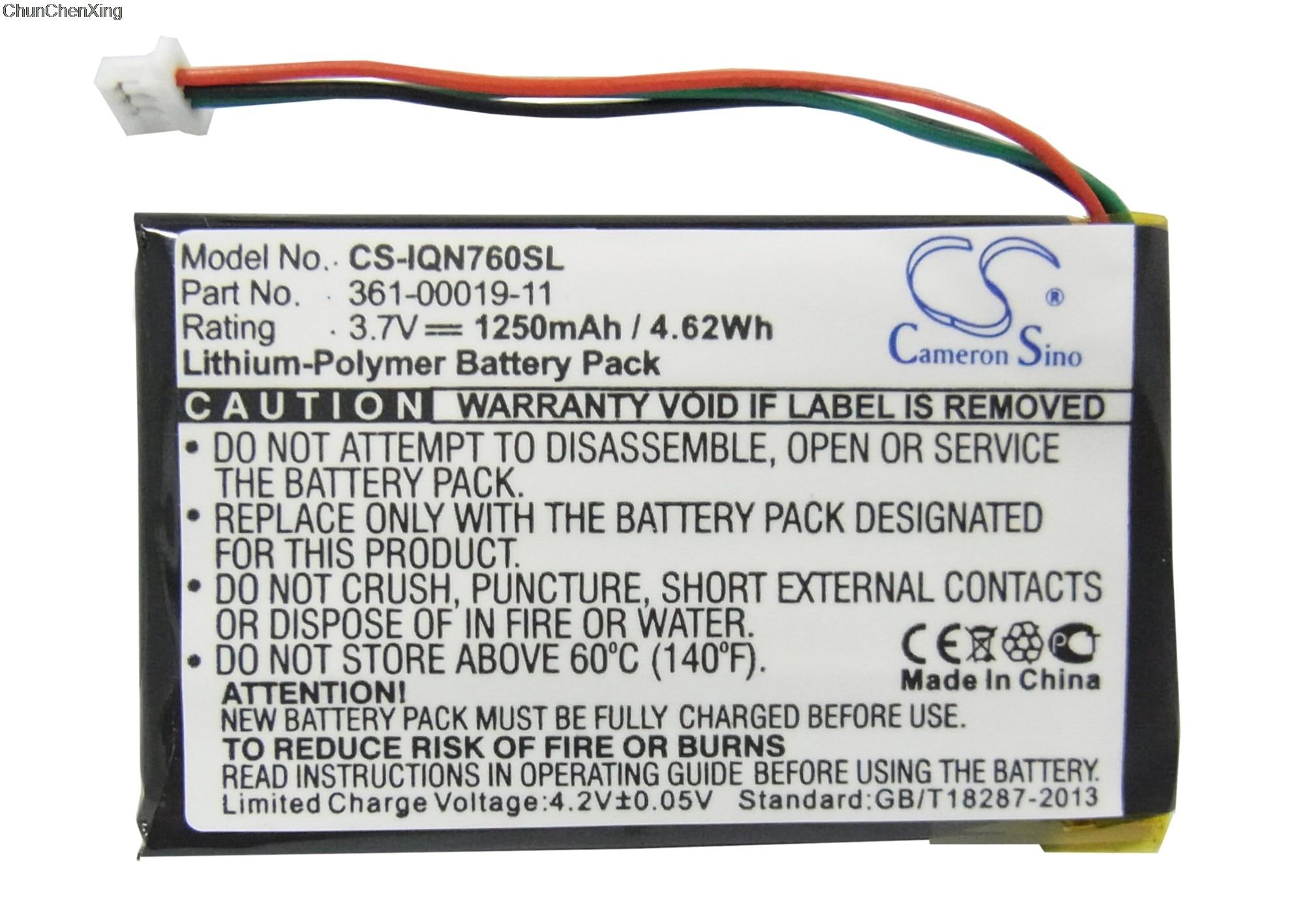 Cameron Sino 1250mAh Battery 361-00019-11 for Garmin Nuvi 3590, 3590LMT, 700 ( 3 wires ), 710, 710T, 760, 760T, 765, 765TCameron Sino 1250mAh Battery 361-00019-11 for Garmin Nuvi 3590, 3590LMT, 700 ( 3 wires ), 710, 710T, 760, 760T, 765, 765T