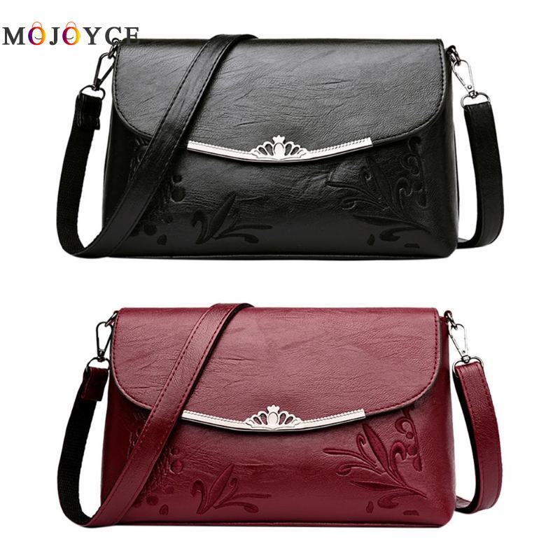 Simple Pure Women Handbags Flap PU Leather Shoulder Bag Office Lady Elegant Clutch bolsos mujer de marca famosa 2018 2