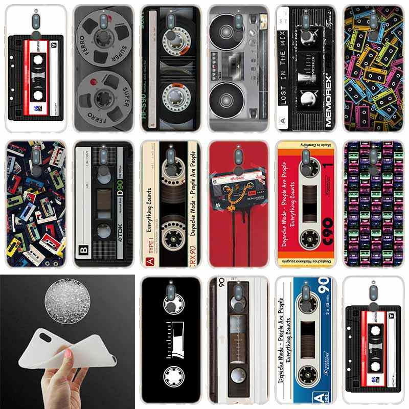 soft silicone case Cassette For Huawei Mate 20 10 Lite 20 pro s Nova 3 4 3i y9 y6 y5 y7 pro 2019 2018 2017 20X Cover