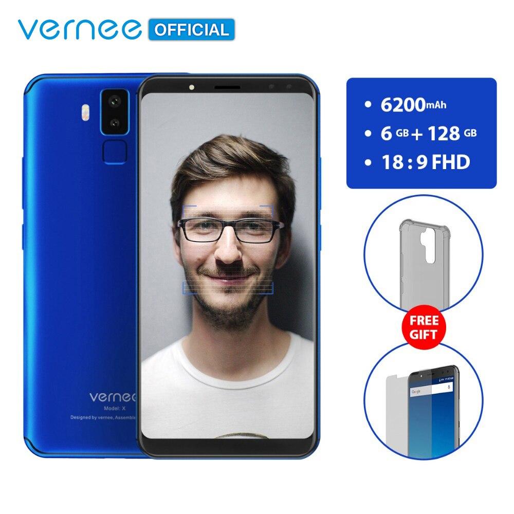 Vernee X 6 ГБ Оперативная память 128 ГБ Встроенная память смартфона Face ID Android 7,1 Octa Core 6,0 дюймов 18:9 FHD 2160x1080 P четырех камер 6200 мАч телефон
