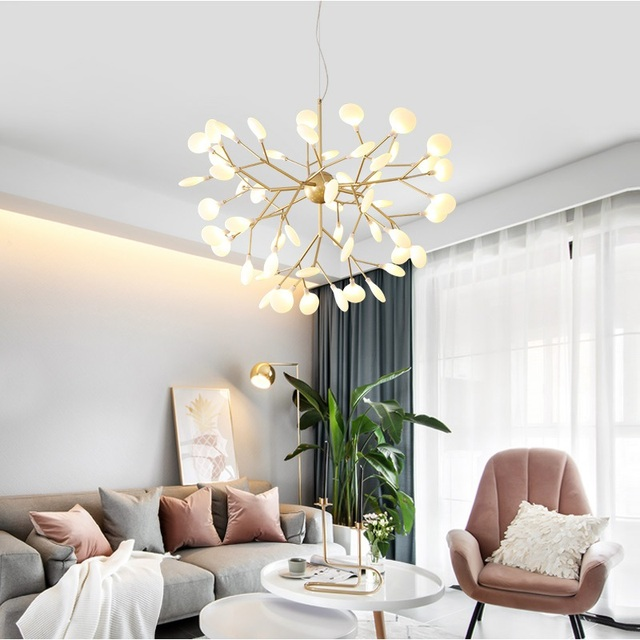LED Modern firefly Chandelier light stylish tree branch chandelier lamp decorative ceiling chandelies hanging Led Lighting 2