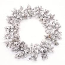 20pcs ประดิษฐ์ดอกไม้สับปะรดหญ้า Pine NUTS กรวยสำหรับงานแต่งงานตกแต่งพวงหรีดคริสต์มาส DIY CRAFT Scrapbooking