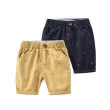 Летние пляжные шорты для маленьких мальчиков, Повседневные детские штаны, брюки, одежда с эластичной резинкой на талии, тонкие шорты для маленьких мальчиков