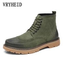 VRYHEID Brand Genuine Leather Men Boots Autumn And Winter Man Shoes Ankle Boot Men's Snow Shoe Waterproof Work Plus Size 38-45 vancat 2018 new genuine leather men snow boots autumn winter outdoor working man ankle boot men s work shoes plus size 38 47